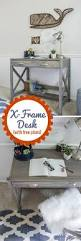 Student Desk Woodworking Plans by How To Make An X Frame Desk With Free Plans Homework Station