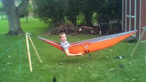 brad demonstrating a hammock youtube