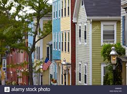 charlestown boston massachusetts colonial homes stock photo