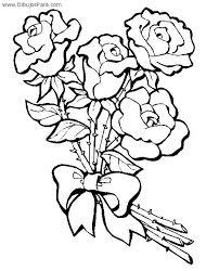 imagenes para colorear rosas dibujo de ramo de rosas para colorear dibujos de flores para