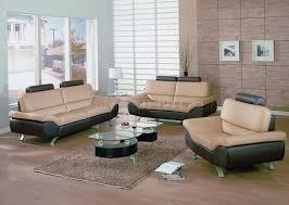 3 Pc Living Room Set Bali Dm 1030 Leather Beige Brown Living Room Set