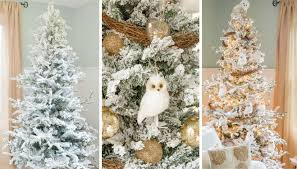 decorating a faux flocked tree wayfair