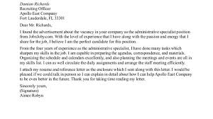 example cover letter for administrative sample medical cover