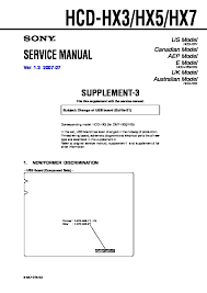 sony hcd hx3 hcd hx5 hcd hx7 service manual free download