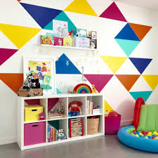 diy colorful paint wall design for playroom ideas have small white