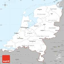 map netherlands gray simple map of netherlands