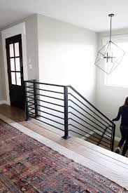 Metal Stair Rails And Banisters All The Details On Our New Horizontal Stair Railing Stair