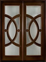 Modern Entry Doors by Modern Front Door Custom Double Solid Wood With Walnut Finish