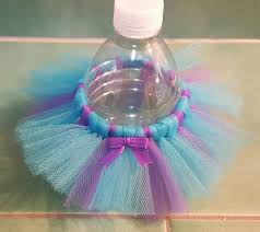 bottle tutu favors 4 turquoise purple tutu decoration tulle skirt