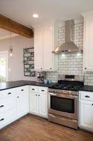 Pictures Of Kitchen With White Cabinets by Home Design 85 Astounding White Mosaic Tile Backsplashs