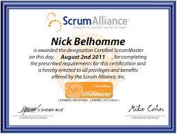 Scrum Master Resume Nick Belhomme