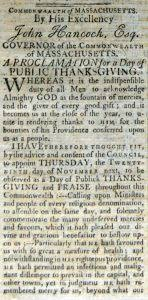 proclamation thanksgiving day 1792 massachusetts wallbuilders