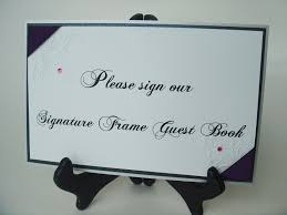 wedding autograph frame guestbook sign wording help i am not creative weddingbee