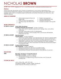 Technical Skills Resume Examples by Web Developer Cv Example For It Livecareer