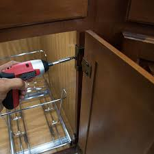 How To Hang Kitchen Cabinet Doors Install Cabinet Organizers