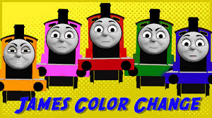 thomas friends color change game james red engine
