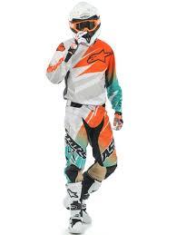 2014 motocross gear alpinestars white orange marine 2014 techstar mx jersey