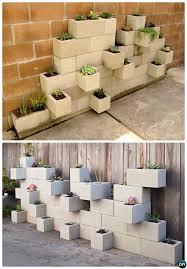 diy cinder block garden projects instructions