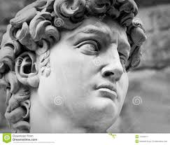 head of michelangelo u0027s david royalty free stock photography