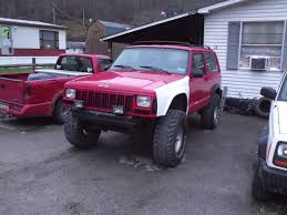 jeep cherokee stinger bumper big red xj 1996 jeep cherokee specs photos modification info at