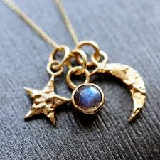 handmade charm necklace images Gold universe charm necklace pretty wild jewellery JPG