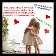 imagenes del amor y amistad para una hermana amo a mi hermana cosas para mi muro
