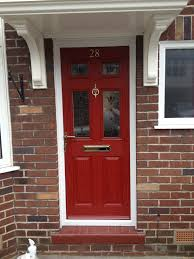 mesmerizing 90 red front door on brick house decorating