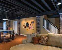 shocking ideas how to paint basement ceiling painting joists