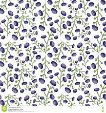 botanical wrapping paper seamless blue berry pattern tiled vector botanical backgroun with