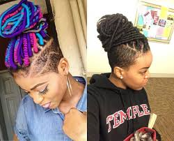half shaved with braids female dreadlocks hairstyles with shaved sides blackhairlab com