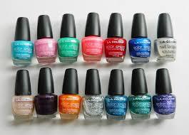 spotlight la colors nail polish review and swatches kiran reveur