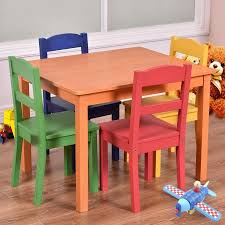 Toddler Table And Chairs Wood Kids U0027 Table U0026 Chair Sets Walmart Com