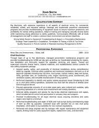 Electrical Technician Resume Sample Resume For Electrical Technician Resume Templates