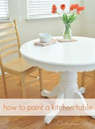 great instructions on how to paint a kitchen table white now if