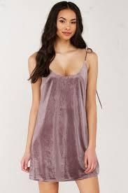 velvet shift dress in dusty purple
