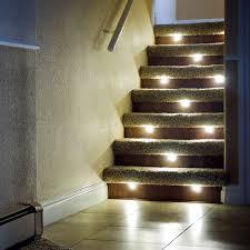 led indoor stair lighting fixtures door stair design