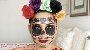 sugar skull la catrina temporary tattoos