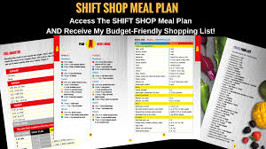 This Shift Shop Meal Plan Is Designed For A Fitness Program