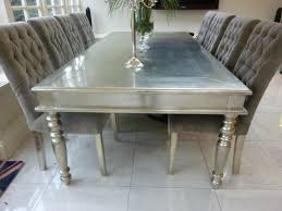 Silver Dining Chairs Wonderful Silver Dining Table Best Ideas About Metal Dining Table