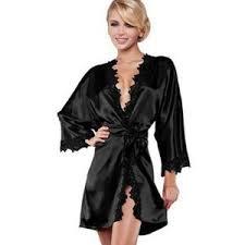 robe de chambre en satin peignoir satin et dentelle achat vente peignoir satin et