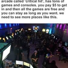 Arcade Meme - critical hit arcade arcades 111 n 7th st alamo tx phone