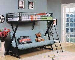Black Metal Futon Bunk Bed Zazie Black Metal Futon Bunk Bed Bookshelf Shop For