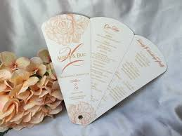 programs for wedding petal fan programs