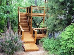 Backyard Wood Deck 15 Natural And Beautiful Outdoor Staircases Rilane