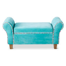 Storage Bench Kids Turquoise Kids Upholstered Storage Bench Everything Turquoise