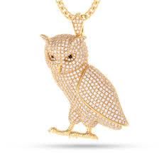 owl necklace pendants images The 14k gold owl necklace hip hop pendants king ice kingice jpg