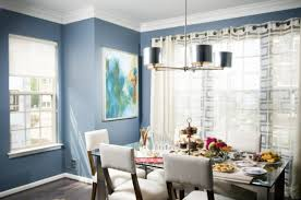 light blue dining room home design ideas