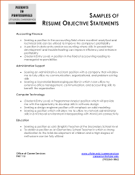 Job Objectives Resume by Sample Objective Statement Resume Free Resume Example And