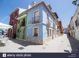 Spanish Mediterranean Denia Old Town In Alicante In Mediterranean Sea Spain Stock Photo