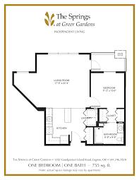floor plans for kitchens independent senior living in eugene or the springs at greer gardens